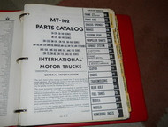 International TRUCKS IHC MT-102 MT102 MOTOR TRUCK Parts Catalog Manual OEM RARE