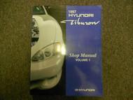 1997 HYUNDAI TIBURON Service Repair Shop Manual Volume 1 FACTORY OEM BOOK 97