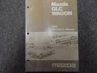 1982 Mazda GLC Wagon Service Repair Shop Manual FACTORY DEALERSHIP OEM BOOK 82