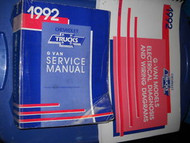 1992 CHEVY EXPRESS GMC SAVANA G VAN GVAN Shop Service Repair Manual Set OEM