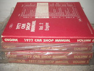 1977 FORD MUSTANG Service Shop Repair Manual Set OEM 1977 DEALERSHIP FACTORY 77
