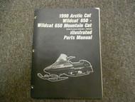 1990 Arctic Cat Wildcat 650 Mountain Cat Illustrated Parts Service Repair Manual