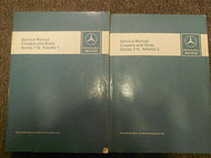 1973 1980 MERCEDES Chassis and Body Series 116 Service Repair Manual OEM SET