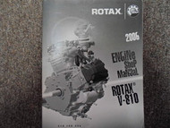 2006 Bombardier ATV Rotax V-810 Engine Service Manual FACTORY DEALER OEM BOOK 06