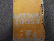 1978 Datsun Nissan 200SX Service Repair Shop Manual FACTORY OEM BOOK RARE 78
