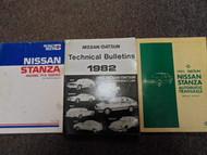 1982 Datsun Nissan Stanza Service Repair Shop Manual SET FACTORY OEM BOOKS 82