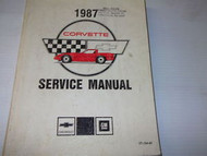 1987 Chevrolet CHEVY CORVETTE Service Repair Shop Manual BRAND NEW DEALERSHIP 87