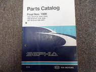 1998 KIA Sephia Service Shop Repair Parts Catalog Manual FACTORY OEM BOOK 98