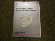 1990 VW 4 Speed Automatic Transmission Service Training Shop Manual FACTORY OEM