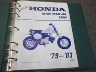 1979 1980 1981 1982 1983 HONDA Z50R Z 50 R Service Shop Repair Manual NEW BOOK x