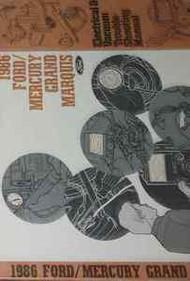 1986 MERCURY GRAND MARQUIS Electrical Wiring Diagrams Service Repair Manual EWD