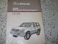2000 Lexus LX470 LX 470 Electrical Wiring Diagram Service Shop Manual OEM EWD x