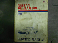 1986 Nissan Pulsar NX Service Repair Shop Manual FACTORY DEALER OEM BOOK 86