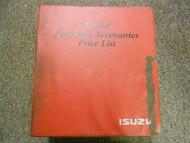 2003 ISUZU Dealer Parts and Accessories Price List Service Manual BINDER EDI 03