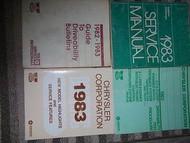 1983 Dodge Challenger Shop Repair Service Manual Set FACTORY OEM MOPAR BOOKS