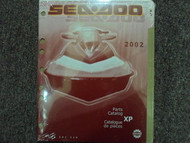 2002 Sea Doo XP Parts Accessories Catalog Manual FACTORY DEALERSHIP OEM Book 02