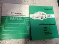 1987 Toyota MR2 Service Repair Shop Manual SET W Electrical Wiring Diagram OEM