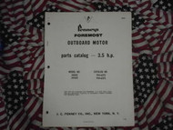 1965 Pennys Foremost Outboard 3.5 HP Part Catalog x