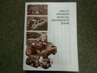 1998 ISUZU LV Owner Reference Book Service Repair Shop Manual FACTORY OEM 98