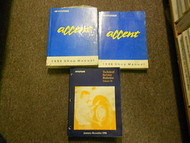 1996 Hyundai Accent Service Repair Shop Manual SET FACTORY OEM BOOK 96 HYUNDAI
