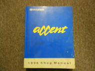 1996 Hyundai Accent Service Repair Shop Manual Vol.1 Engine Emission Clutch OEM