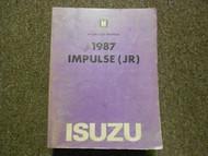 1987 ISUZU IMPULSE JR Service Repair Shop Manual FACTORY OEM BOOK 87