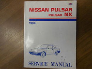 1984 Nissan Pulsar NX Shop Service Repair Manual FACTORY OEM BOOK 84