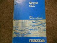 1977 Mazda GLC Service Repair Shop Manual OEM FACTORY DEALERSHIP BOOK 77