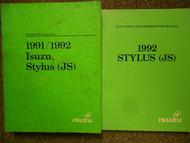 1991 1992 ISUZU STYLUS Service Repair Shop Manual Factory OEM Set