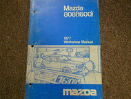 1977 Mazda 808 1600 Service Repair Shop Manual FACTORY OEM BOOK 77