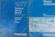 1977 Mazda 808 1300 1600 RX4 Technical Service Manual OEM FACTORY Emission BOOK