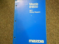 1977 MAZDA B-1800 Truck Electrical Wiring Diagram Service Repair Shop Manual 77