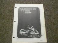 1977 Arctic Cat Lynx Illustrated Service Parts Catalog Manual FACTORY OEM