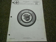 1976 Arctic Cat Panther Illustrated Service Parts Catalog Manual FACTORY OEM