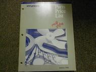 1998 HYUNDAI Parts Price List Manual JAN Sonata Accent FACTORY OEM BOOK 98