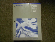 1999 HYUNDAI Parts Price List Manual OCT Scoupe Excel FACTORY OEM BOOK 99