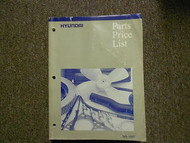 1997 HYUNDAI Parts Price List Manual JULY Sonata Accent FACTORY OEM BOOK 97