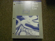 1998 HYUNDAI Parts Price List Manual JULY Tiburon Elantra FACTORY OEM BOOK 98