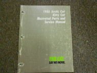 1986 Arctic Cat Kitty Cat Illustrated Service Parts Catalog Manual FACTORY OEM