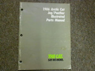 1986 Arctic Cat Jag Panther Illustrated Service Parts Catalog Manual FACTORY OEM