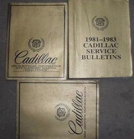 1982 Cadillac ELDORADO SEVILLE FLEETWOOD BROUGHAM Repair Service Manual SET 3 VO