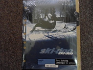 2001 Ski Doo Skandic 440 F Parts Accessories Catalog Manual OEM Book 01