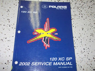 2002 Polaris 120 XC SP Shop Repair Service Manual FACTORY OEM BOOK 02