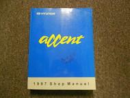 1997 HYUNDAI ACCENT Service Manual Vol. 1 FACTORY OEM Engine Emission Clutch