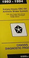 1993 Dodge DAKOTA Truck Kelsey-Hayes EBC-5H Antilock Brakes Chassis Manual