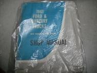 1961 Ford Mercury Truck 850 1100 Service Shop Manual