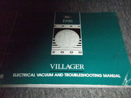 1998 Mercury Villager Van Wiring Electrical Shop Manual