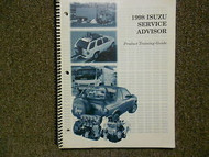 1998 ISUZU RODEO Driveability Emissions Service Manual FACTORY OEM BOOK 98