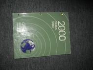 2000 FORD TAURUS MERCURY SABLE Electrical Wiring Diagram Service Shop Manual OEM
