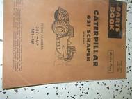 Caterpillar 631 Scraper Hydraulic Parts Book Manual 28F1-UP 11G1-UP FACTORY